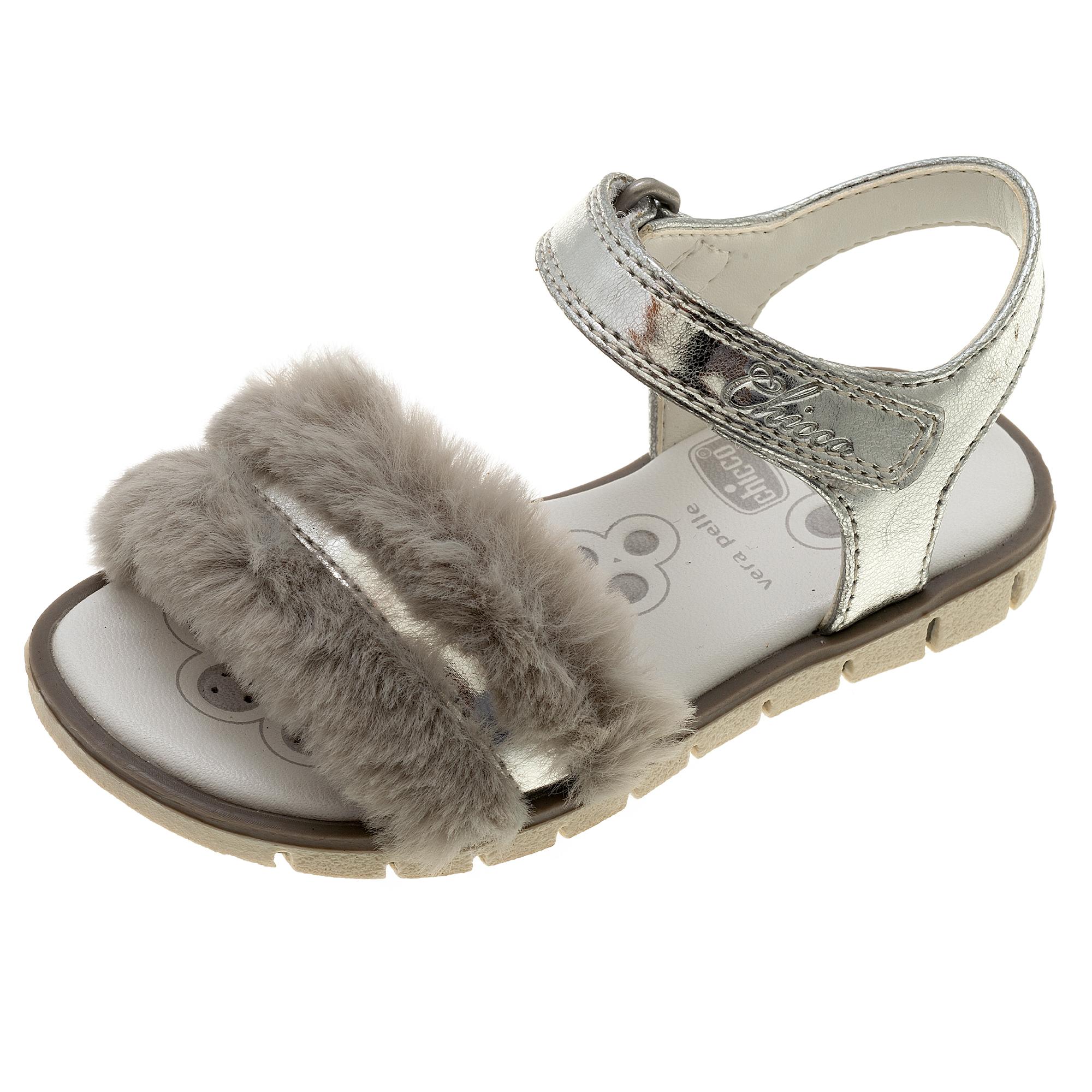 Sandale fetite Chicco Chevyl, argintiu, 61670 din categoria Sandale copii