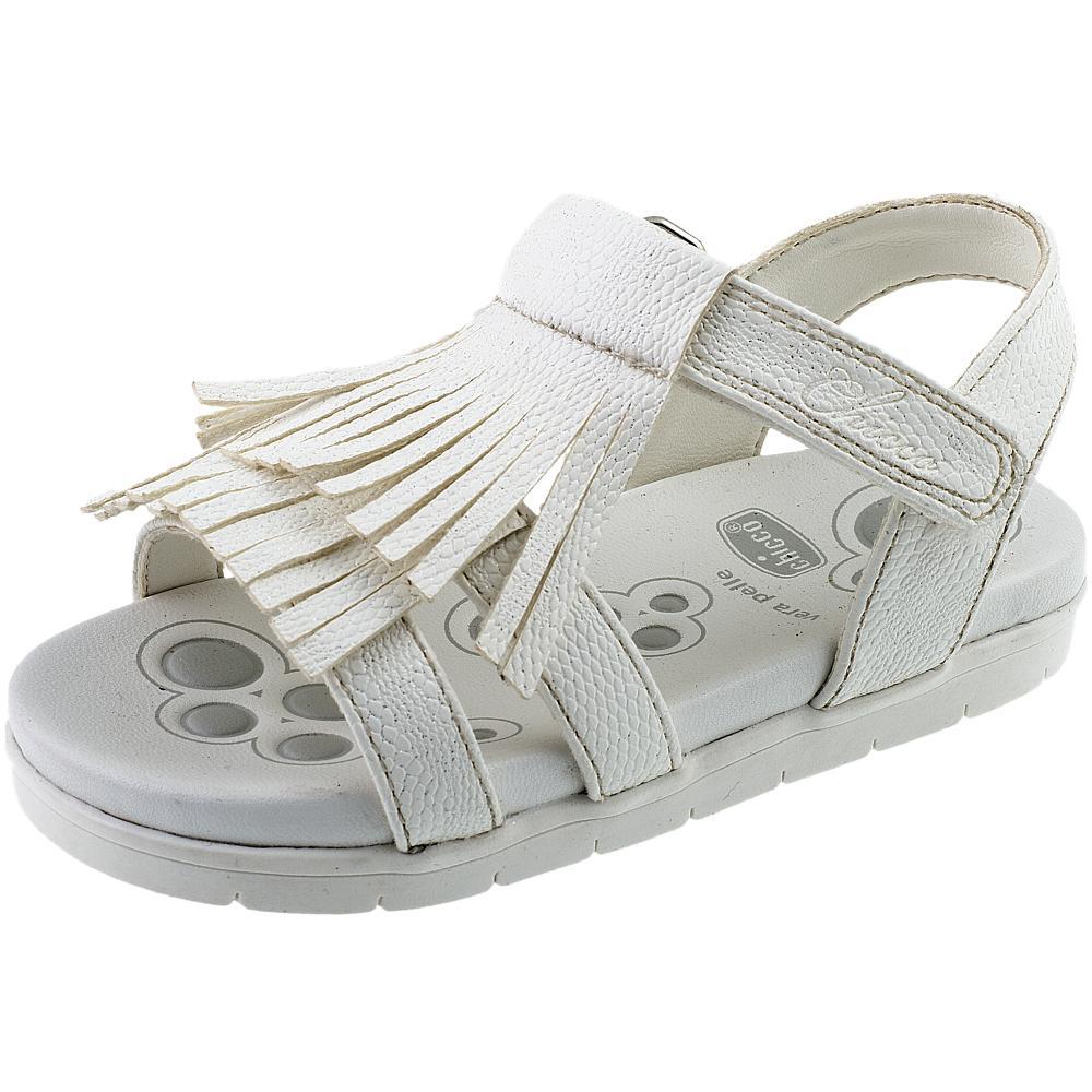 Sandale fetite Chicco, alb
