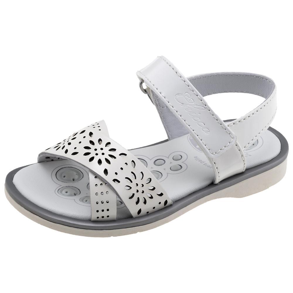 Sandale copii Chicco, piele naturala, alb din categoria Sandale copii