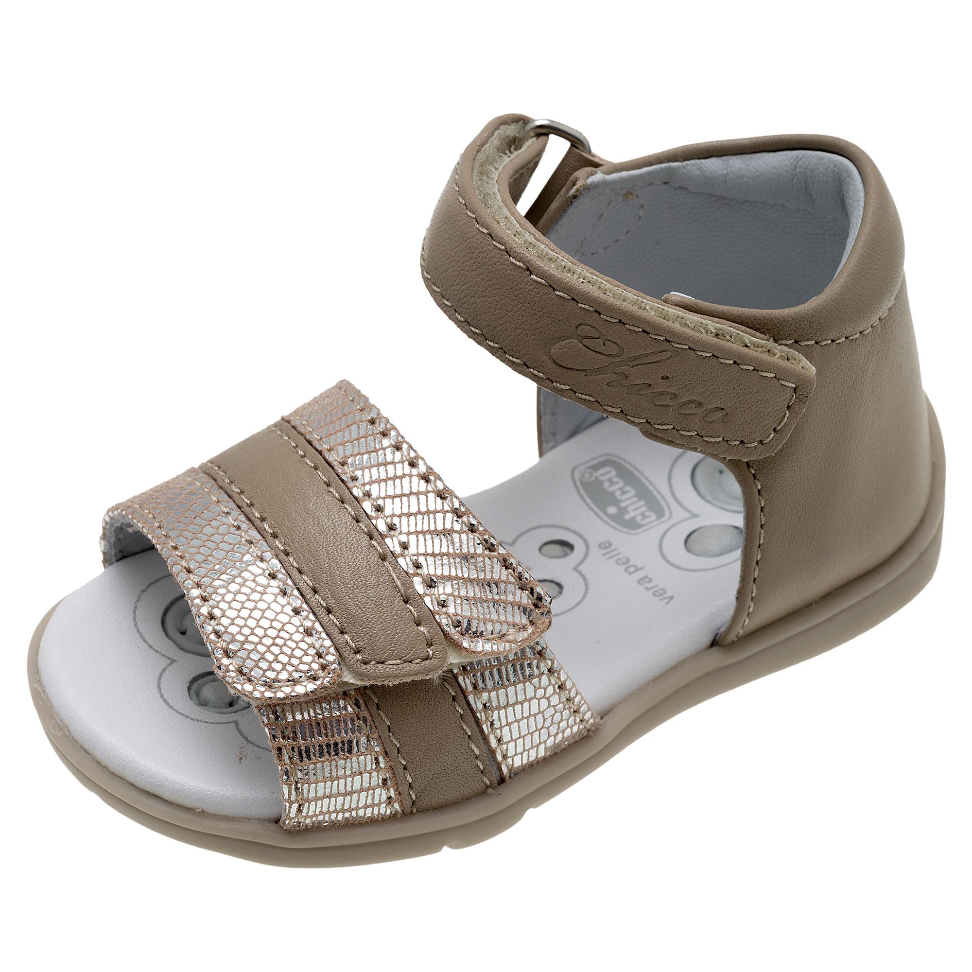 Sandale Fetite Chicco Ginevras, Piele Bej, 61480 imagine