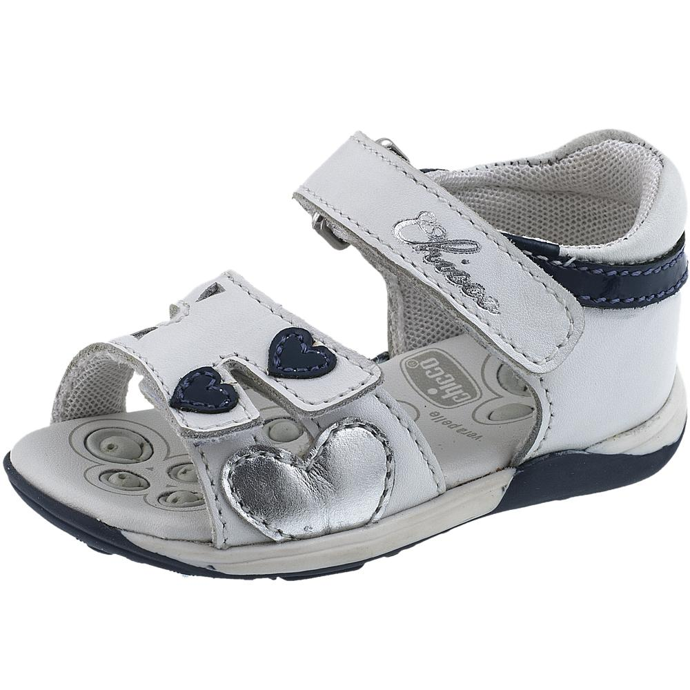 Sandalute copii Chicco, alb cu model