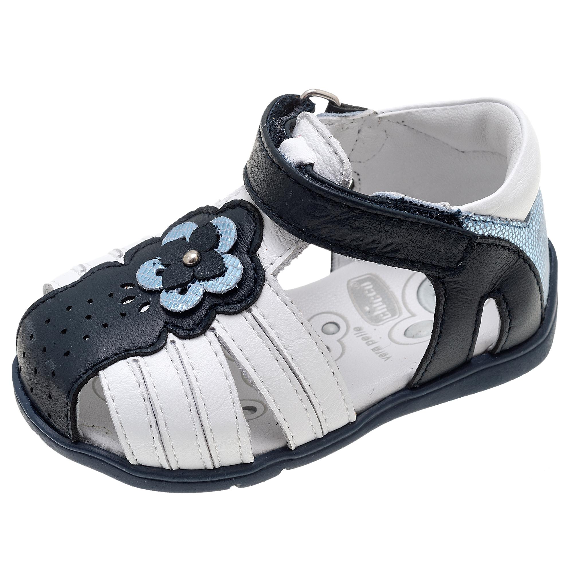 Sandale fetite Chicco Guenda, piele bleumarin, 61471 din categoria Sandale copii