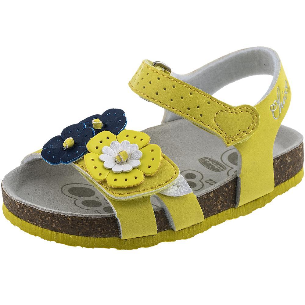 Sandale fetite Chicco, galben din categoria Sandale copii