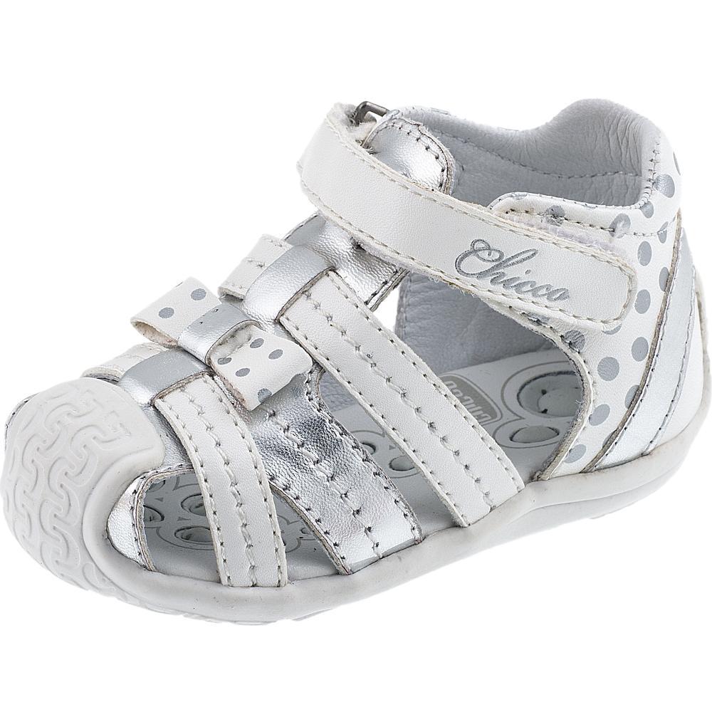 Sandale pentru copii Chicco Gorny, alb cu argintiu, 57490 din categoria Sandale copii