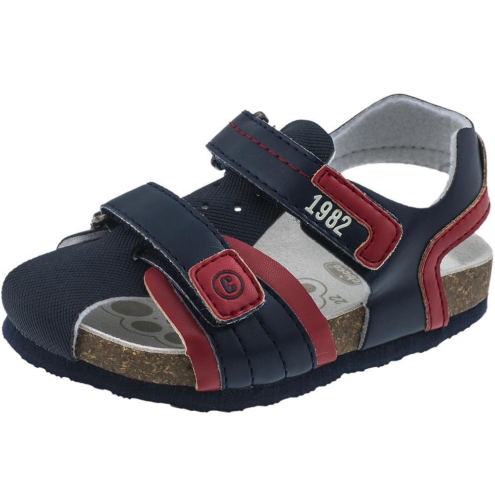 Sandalute copii Chicco bleumarin cu rosu 32