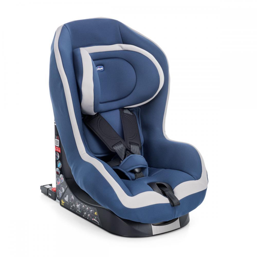 Scaun Auto Chicco Resigilat Go-One Baby Cu Isofix, Blue, 12luni+ imagine