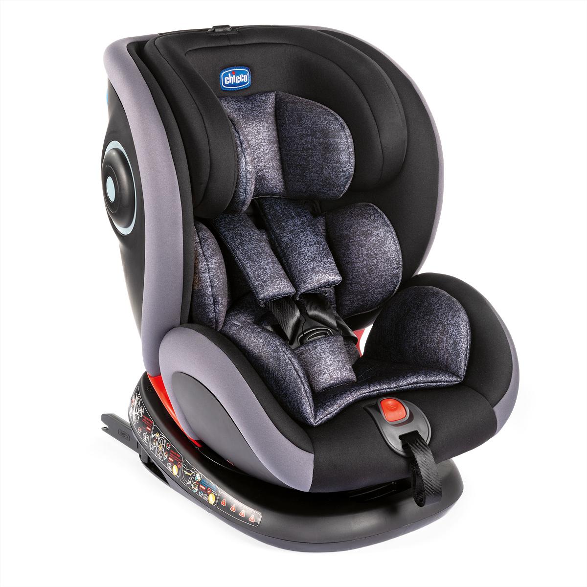 Scaun auto isofix rotativ Chicco Seat4Fix, Graphite, grupa 0+/1/2/3, 0-36Kg