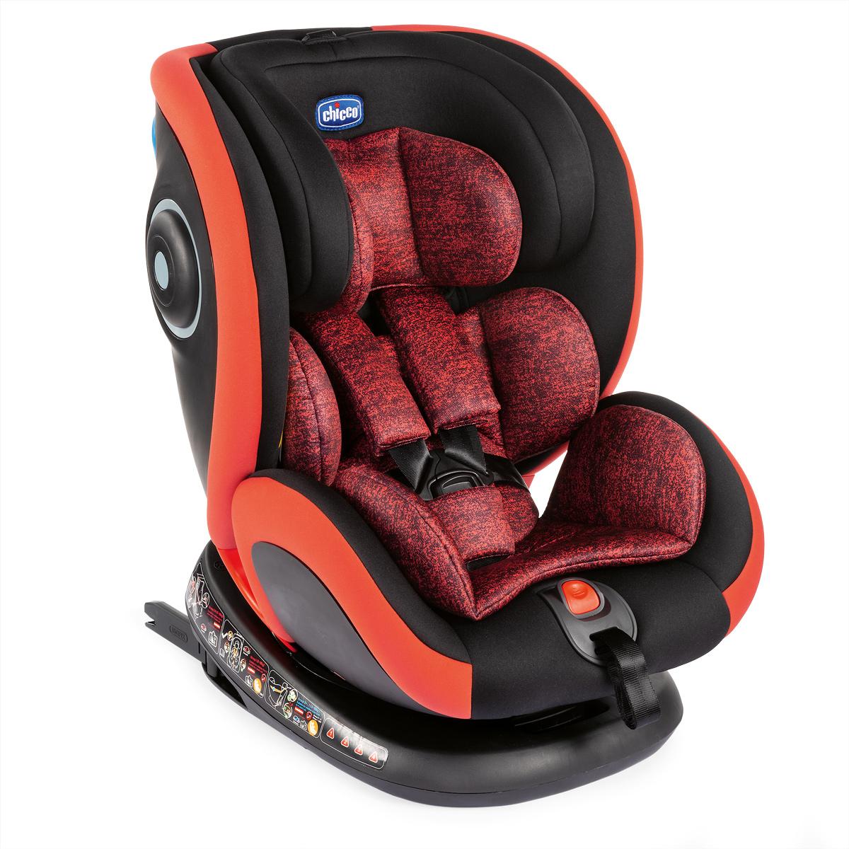 Scaun auto isofix rotativ Chicco Seat4Fix, PoppyRed, grupa 0+/1/2/3, 0-36Kg