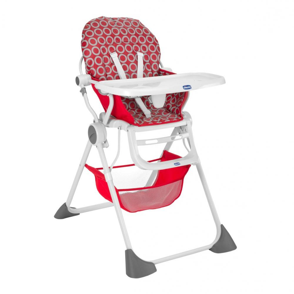 Scaun de masa Chicco Pocket Lunch, Red Wave, 6luni+