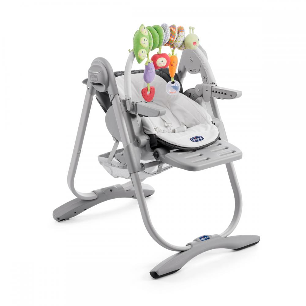 Scaun de masa Chicco Polly Magic 3 in 1, Dark Grey, 0luni+