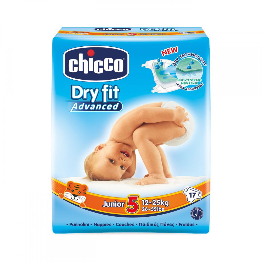 Scutece Chicco Dry Fit Advanced Junior, nr.5, 12-25kg, 17buc