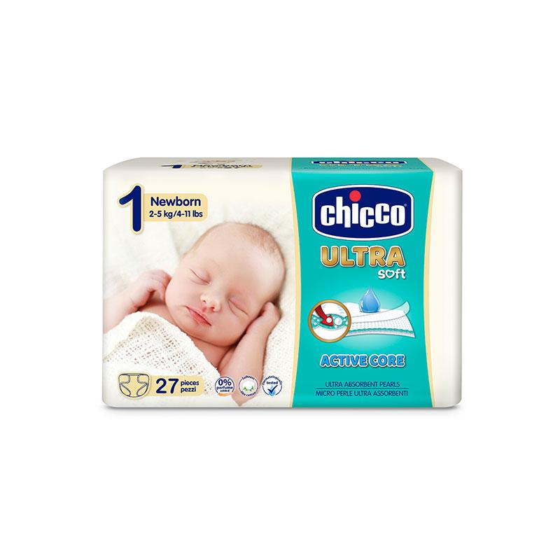Scutece Chicco Ultra Soft 2-5Kg 27 Bucati