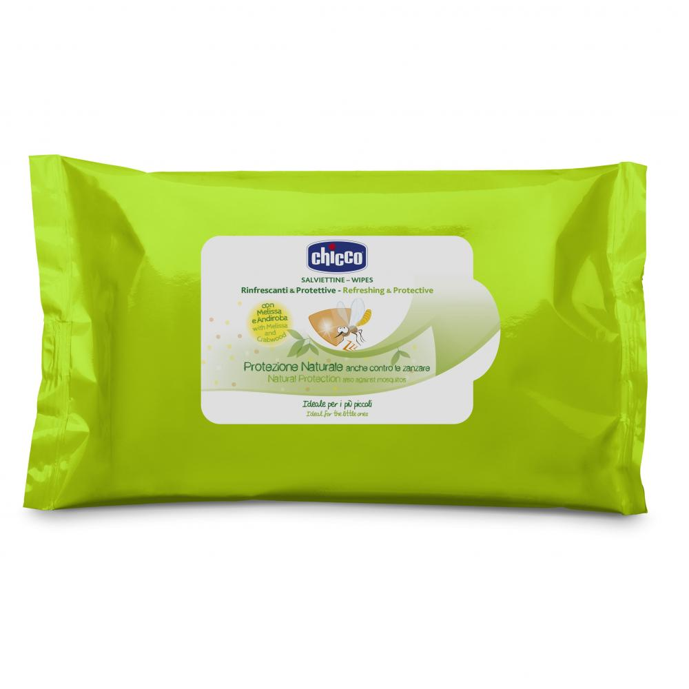 Servetele umede protectie naturala impotriva tantarilor Chicco 20buc 6luni+ thumbnail