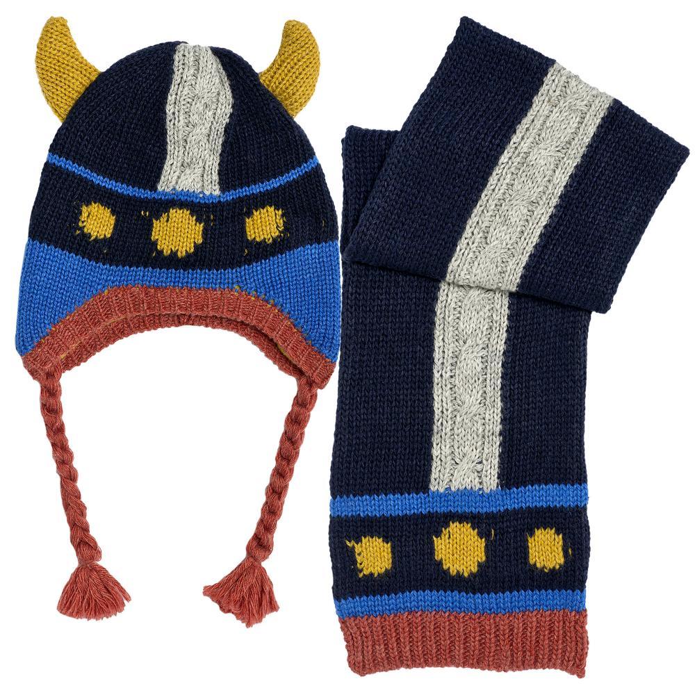 Chicco Set 2 bucati Chicco fular si caciula tricotata albastru amestec lana 4