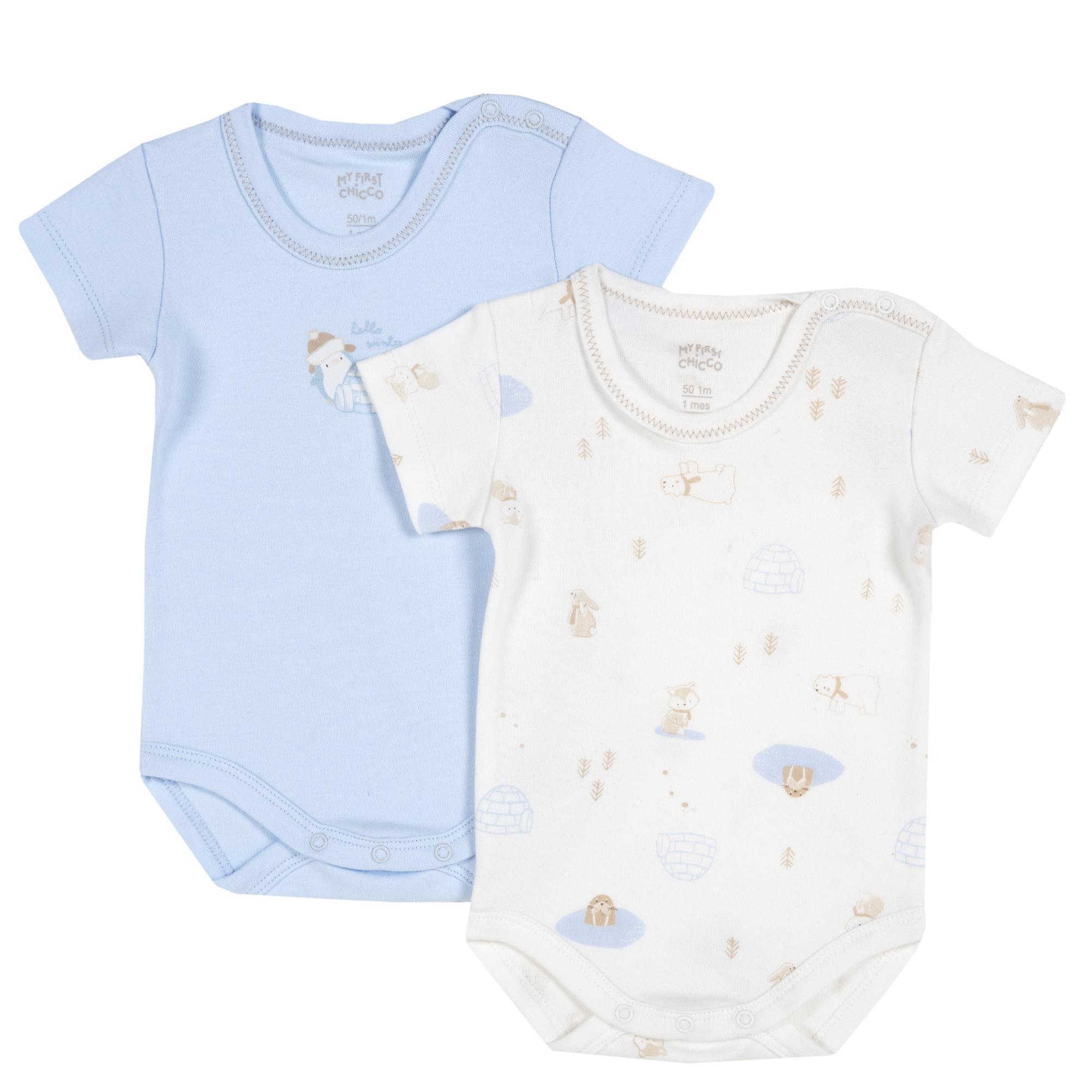 Body bebe Chicco, 2 bucati, albastru, 11457
