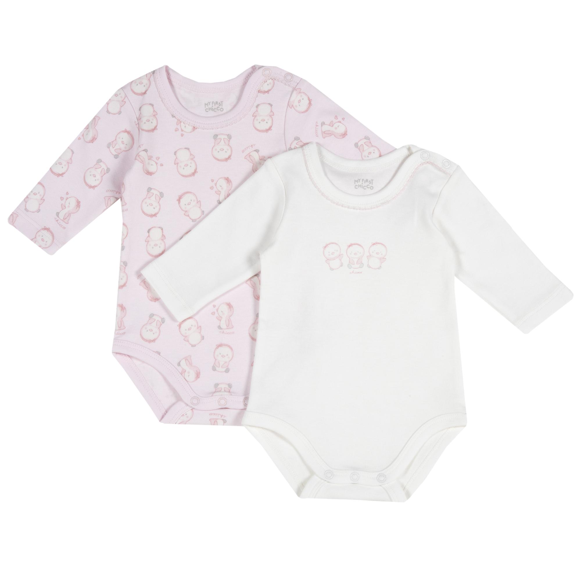 Body bebelusi Chicco set doua bucati roz
