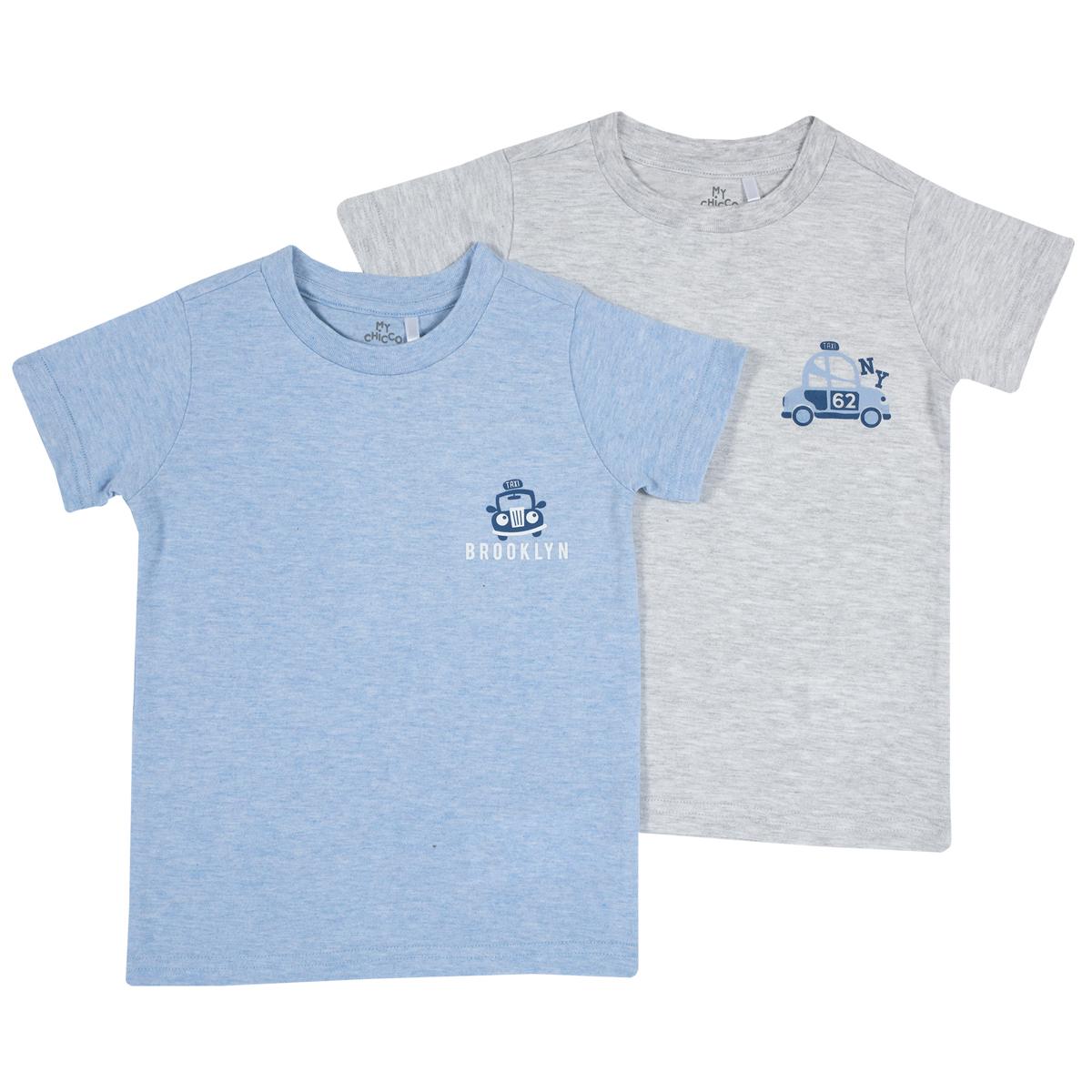 Set 2 tricouri baieti Chicco, gri si bleu, 11421