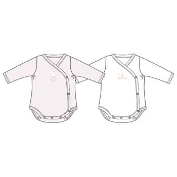 Set body copii Chicco, roz