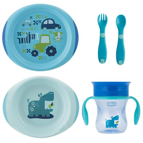 Set Complet Hranire Chicco, Boy, 12luni+