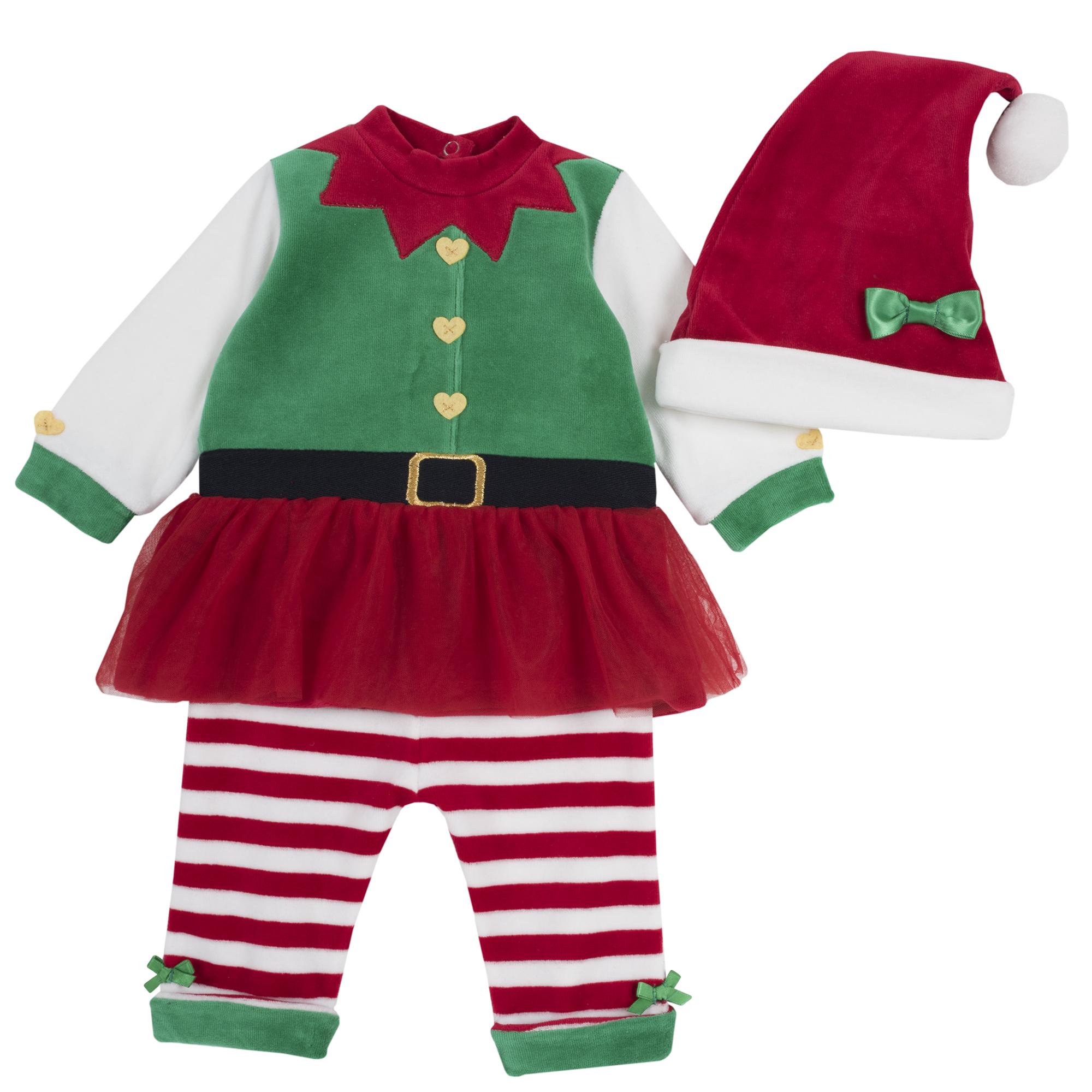 Set costum elfita copii Chicco, rosu