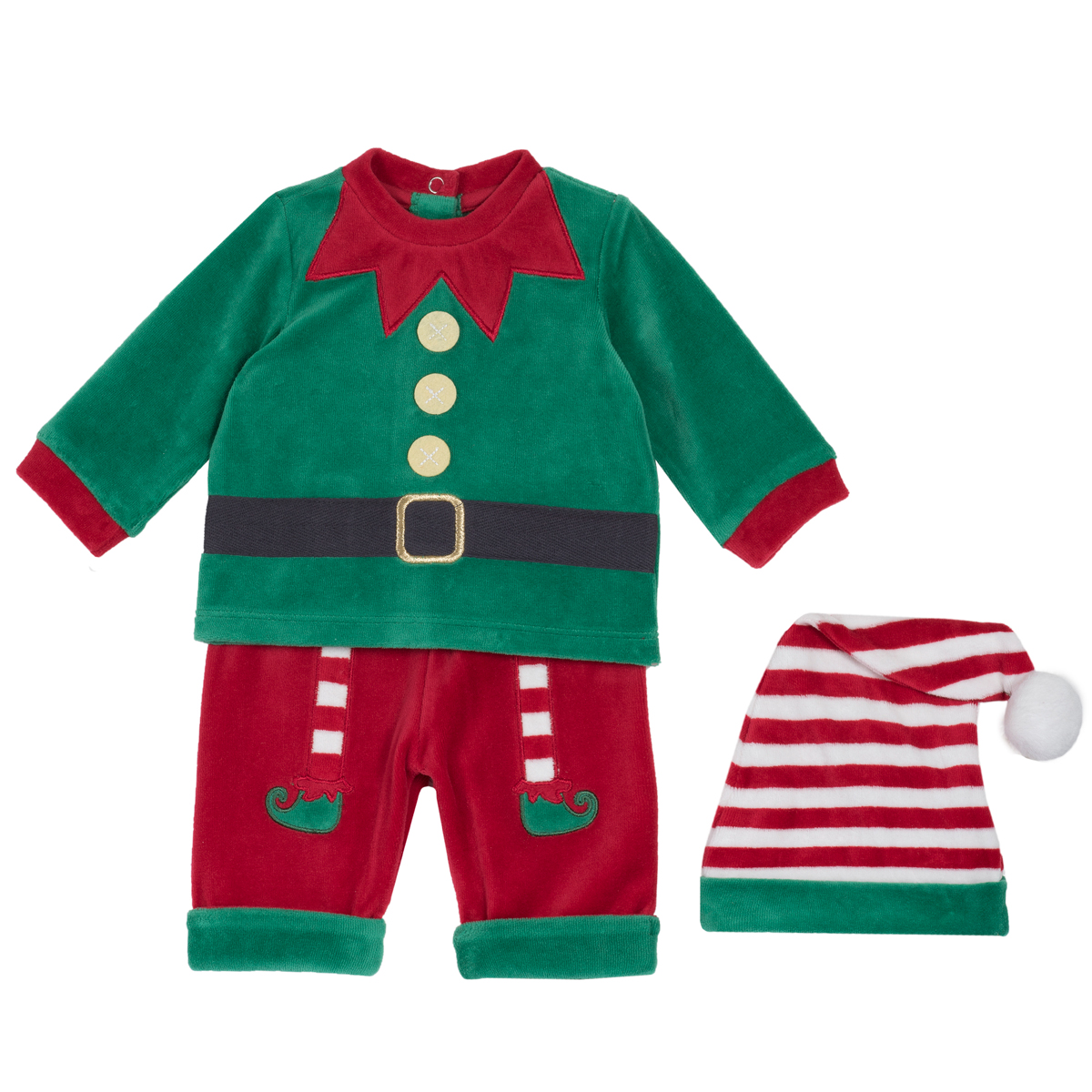 Set Costumas Chicco Spiridus Baiat, Verde Cu Rosu, 76352 imagine