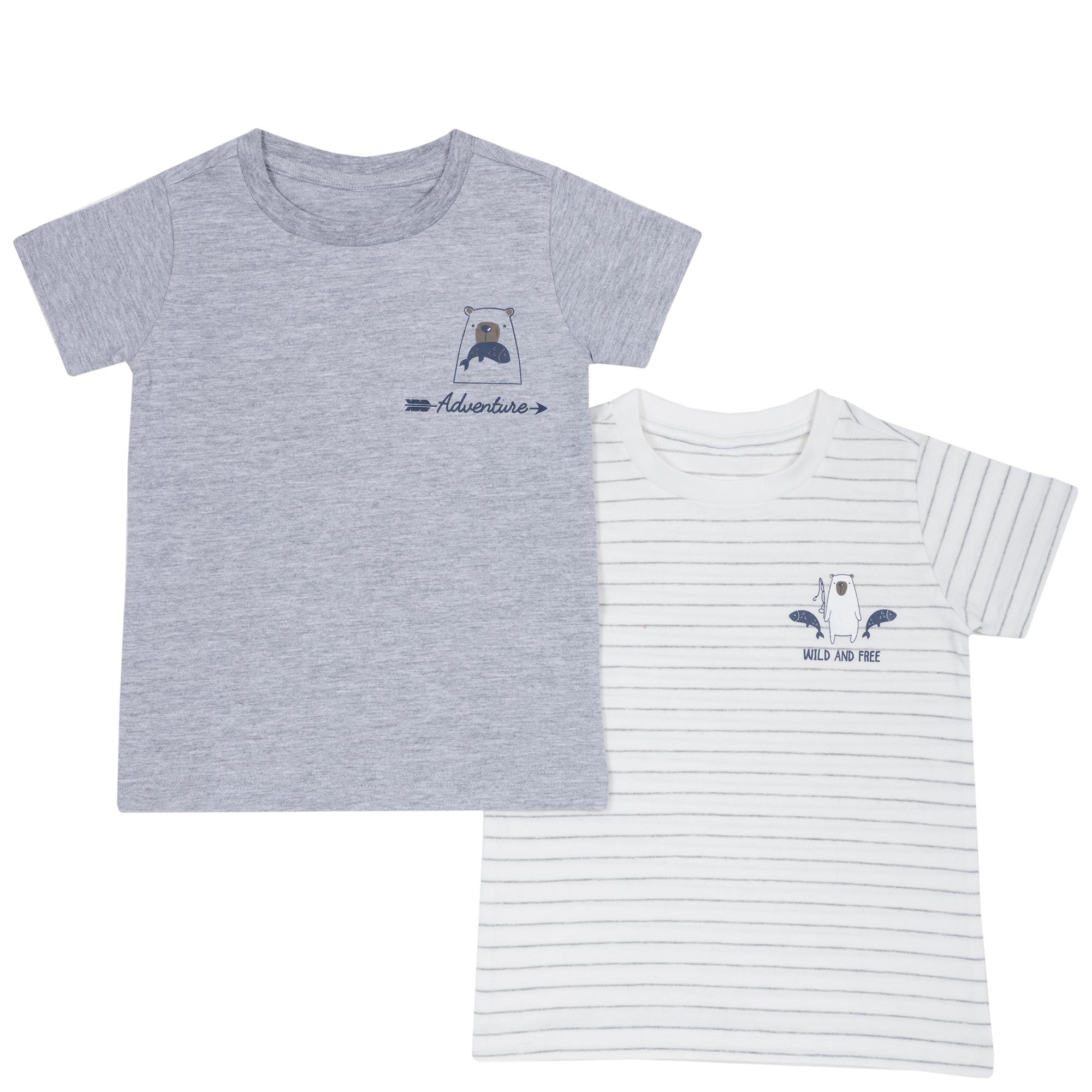 Set doua tricouri copii Chicco, alb