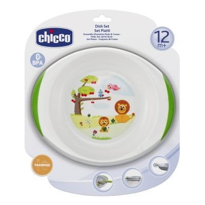 Set farfurie si castron Chicco, 12luni+