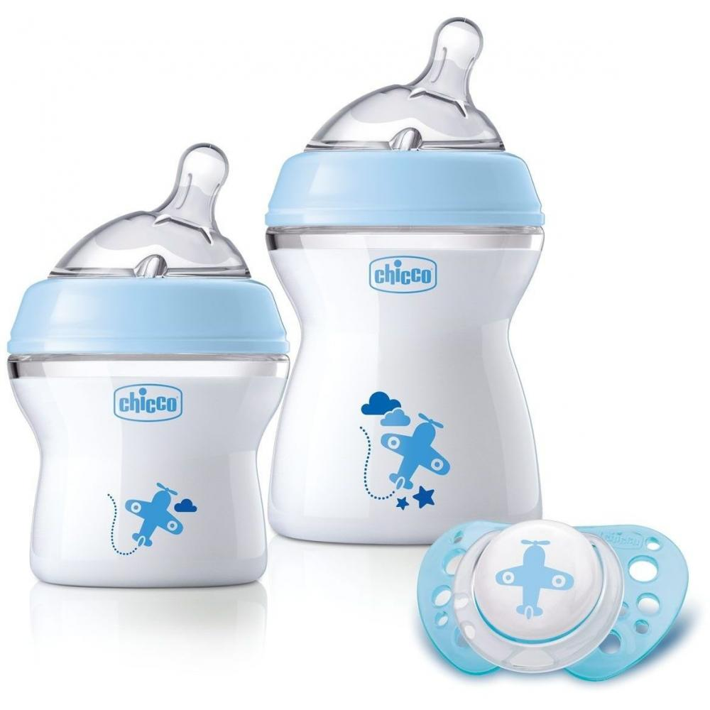 Set nou-nascut Chicco Boy Natural Feeling, 0 luni+ din categoria Biberoane din PP 0% BPA