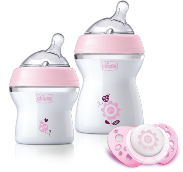 Set nou-nascut Chicco Girl Natural Feeling, 0 luni+ din categoria Biberoane din PP 0% BPA