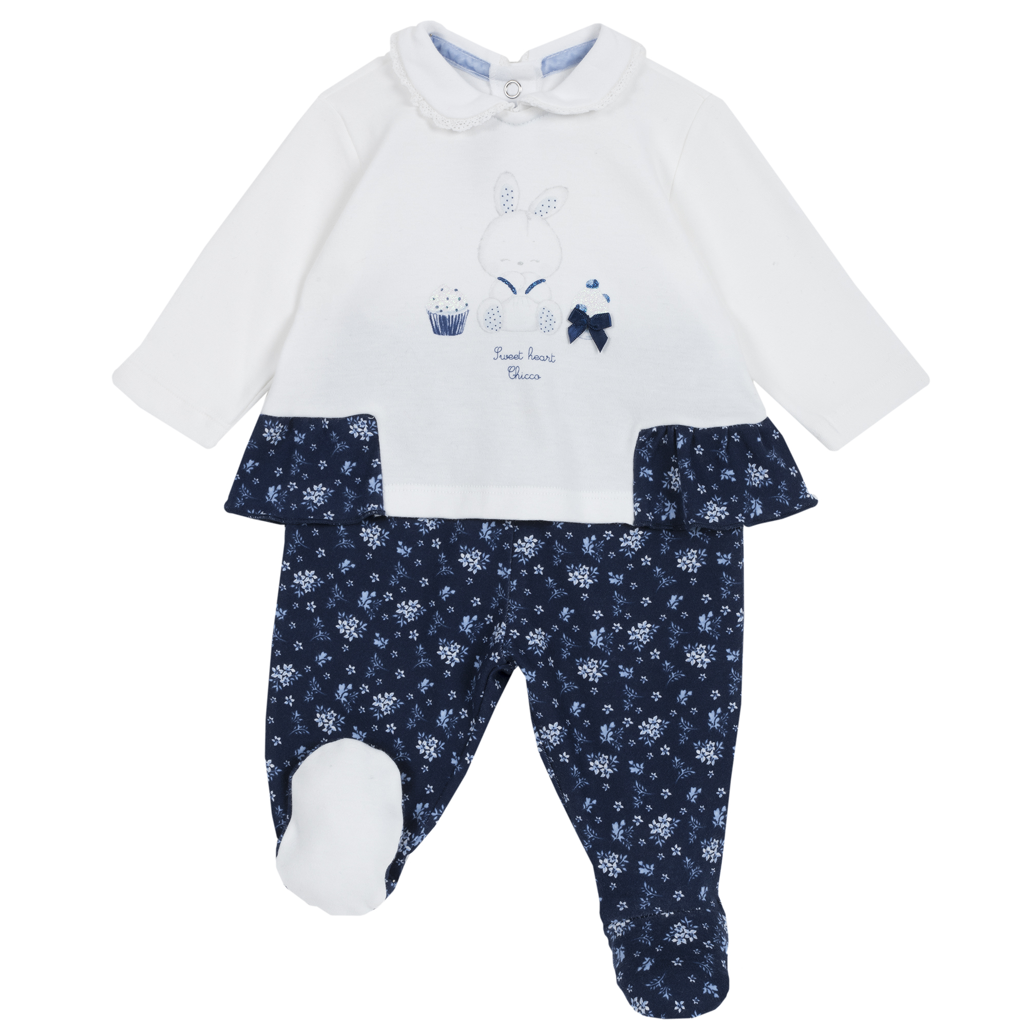 Set pantalon + bluza copii Chicco bleumarin cu model 50