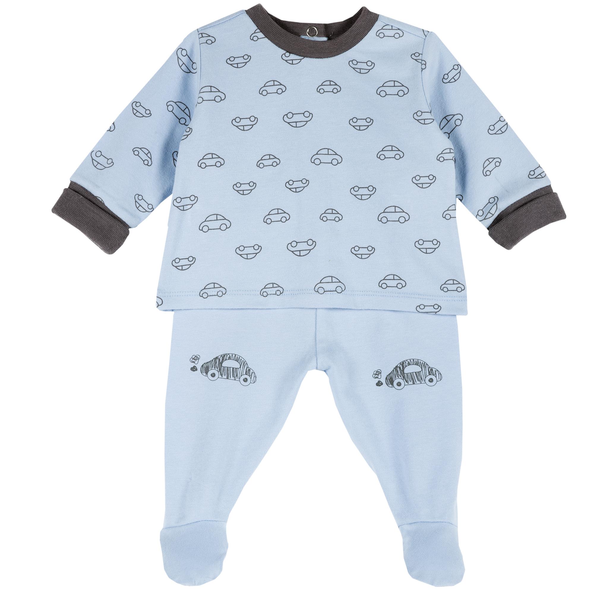 Set pantalon si bluza copii Chicco, albastru deschis