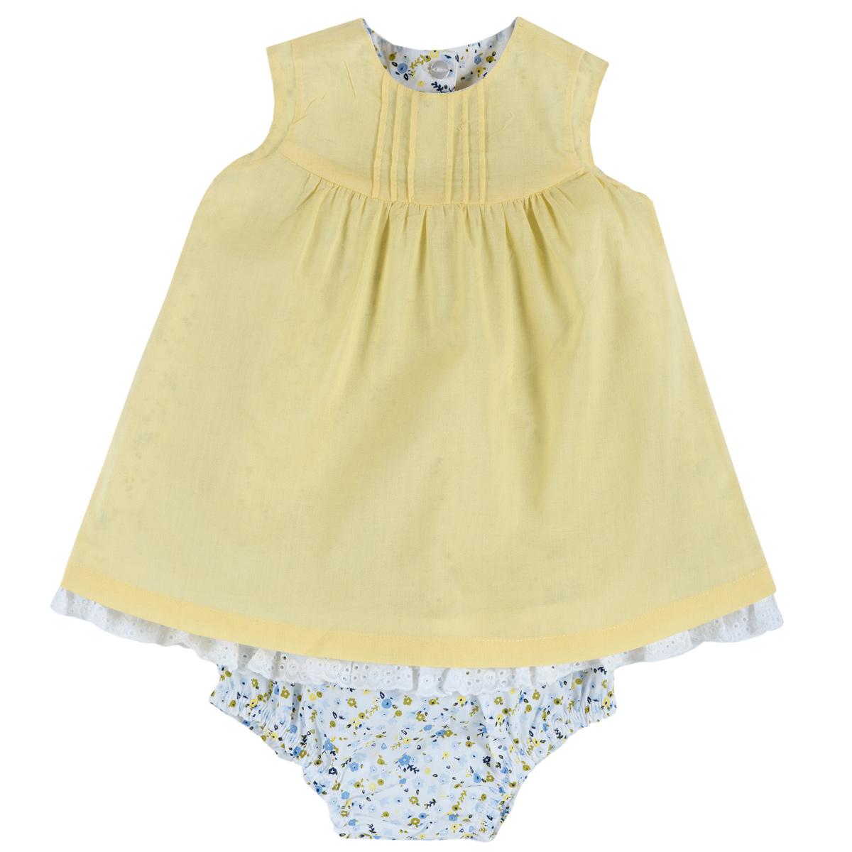 Chicco Set rochita si chilotel pentru fetite Chicco galben deschis 80