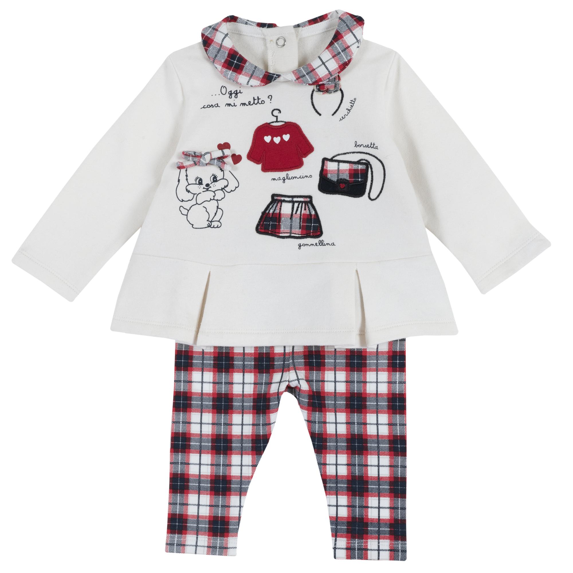 Costum Copii Chicco, Bluza Si Pantaloni, Multicolor, 77976 imagine