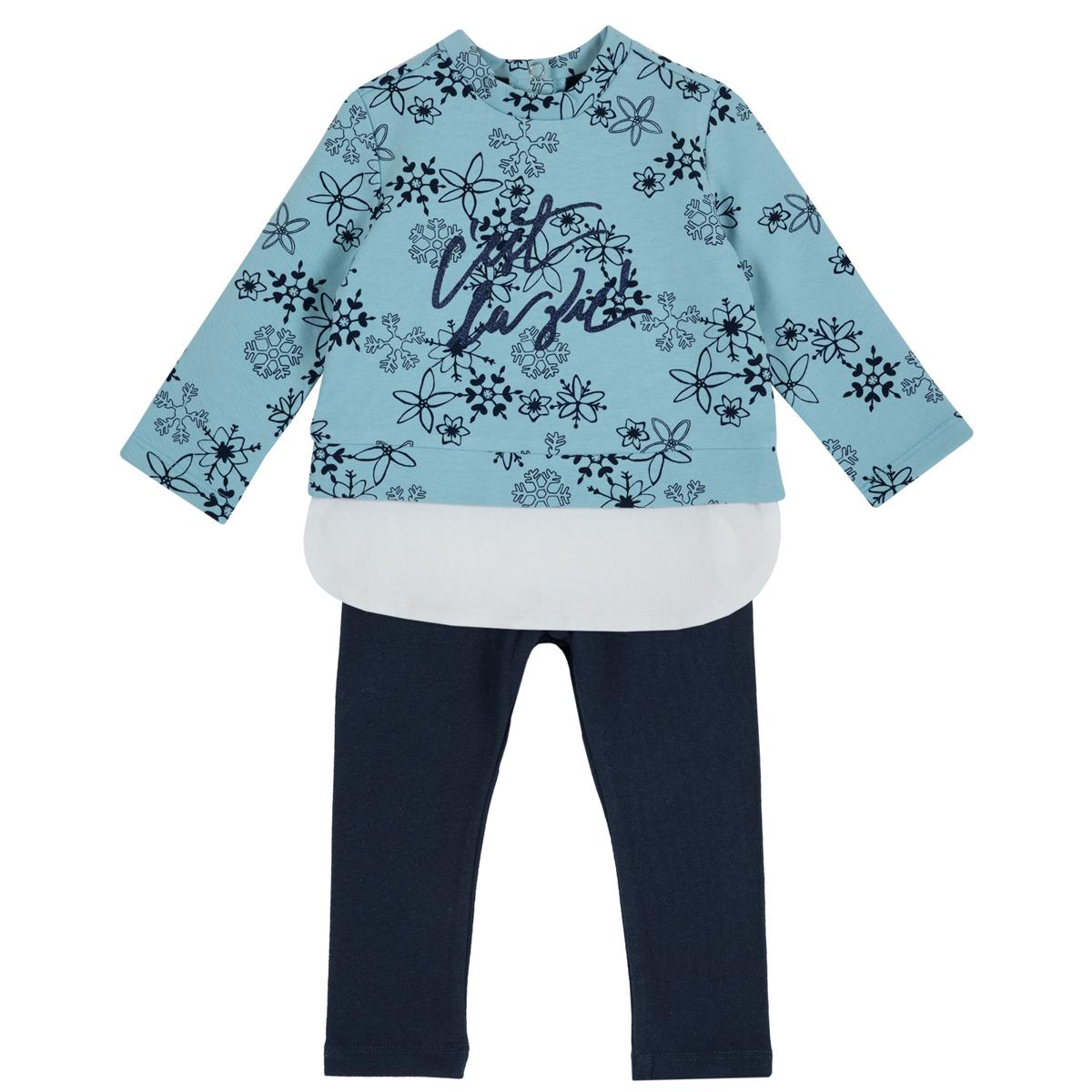 Costumas fetite Chicco, tricou maneca lunga si colanti, 76339 din categoria Set doua piese