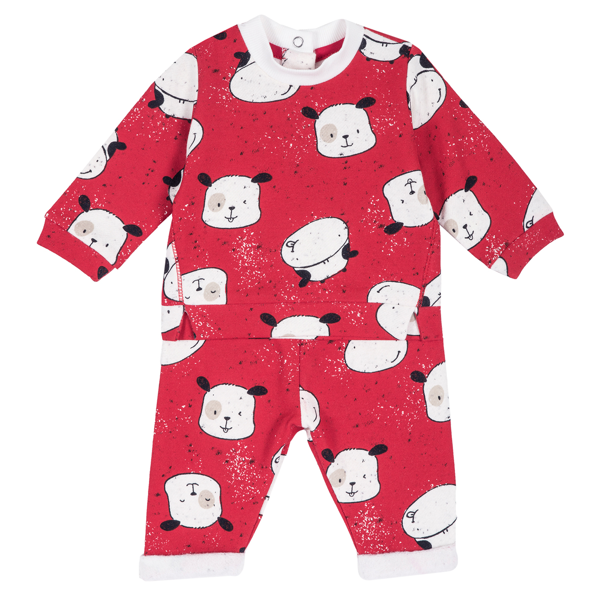 Costumas copii Chicco, tricou si pantalon, rosu, 77947