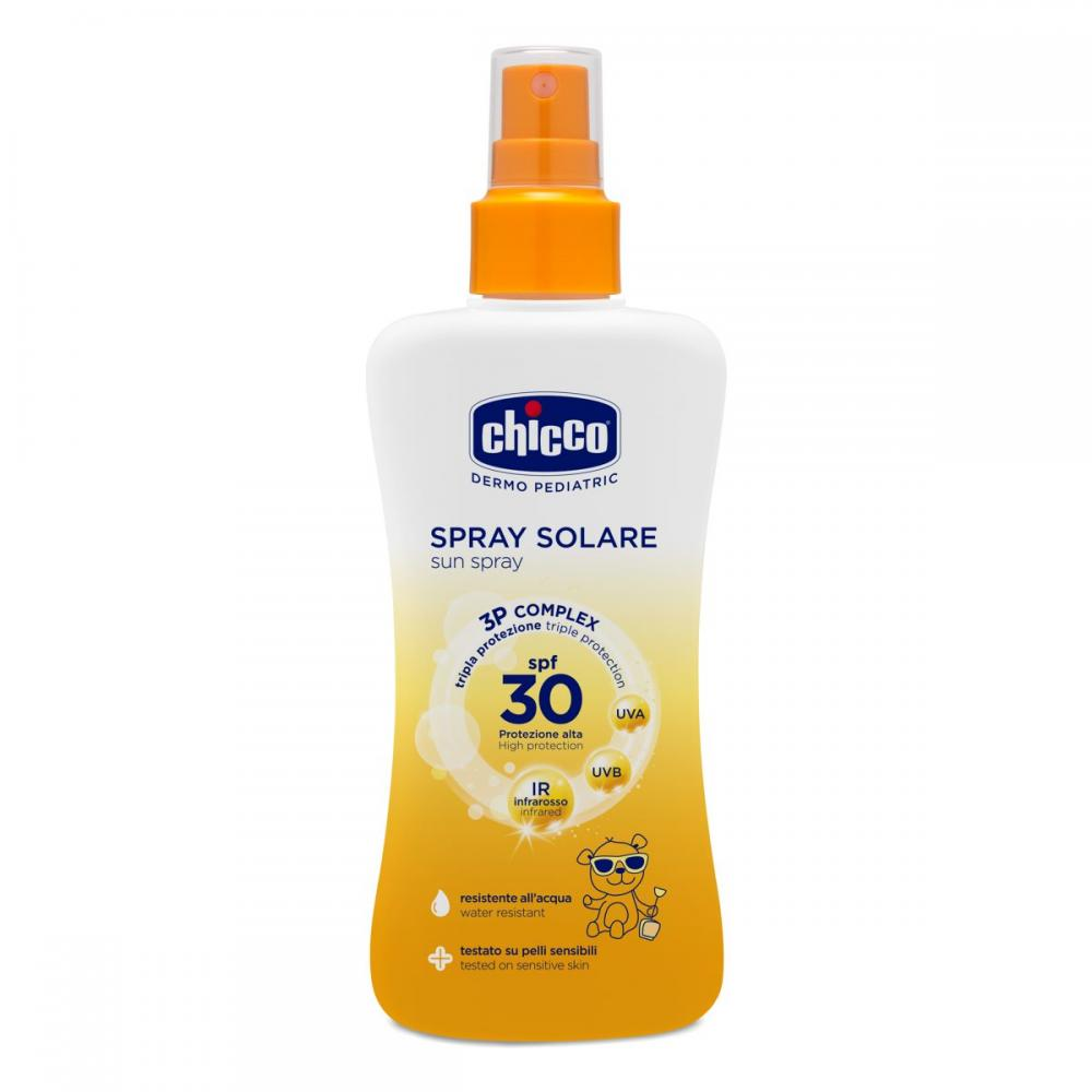 Spray Chicco protectie solara dermopediatrica SPF 30+ 150ml 0 luni+