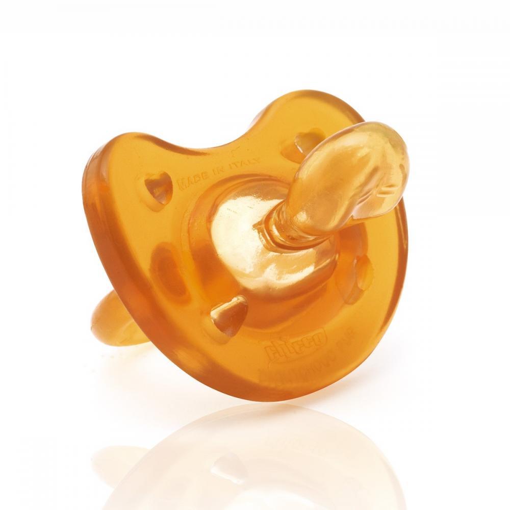 Suzeta Chicco cauciuc monobloc Physio Comfort, forma ortodontica, 0-6luni+