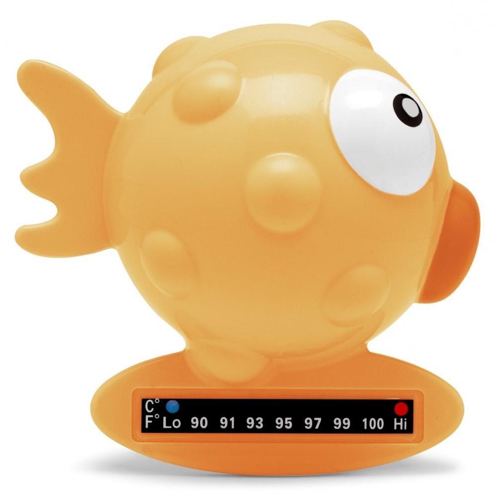 Termometru de baie Chicco, forma de peste, Orange, 0luni+