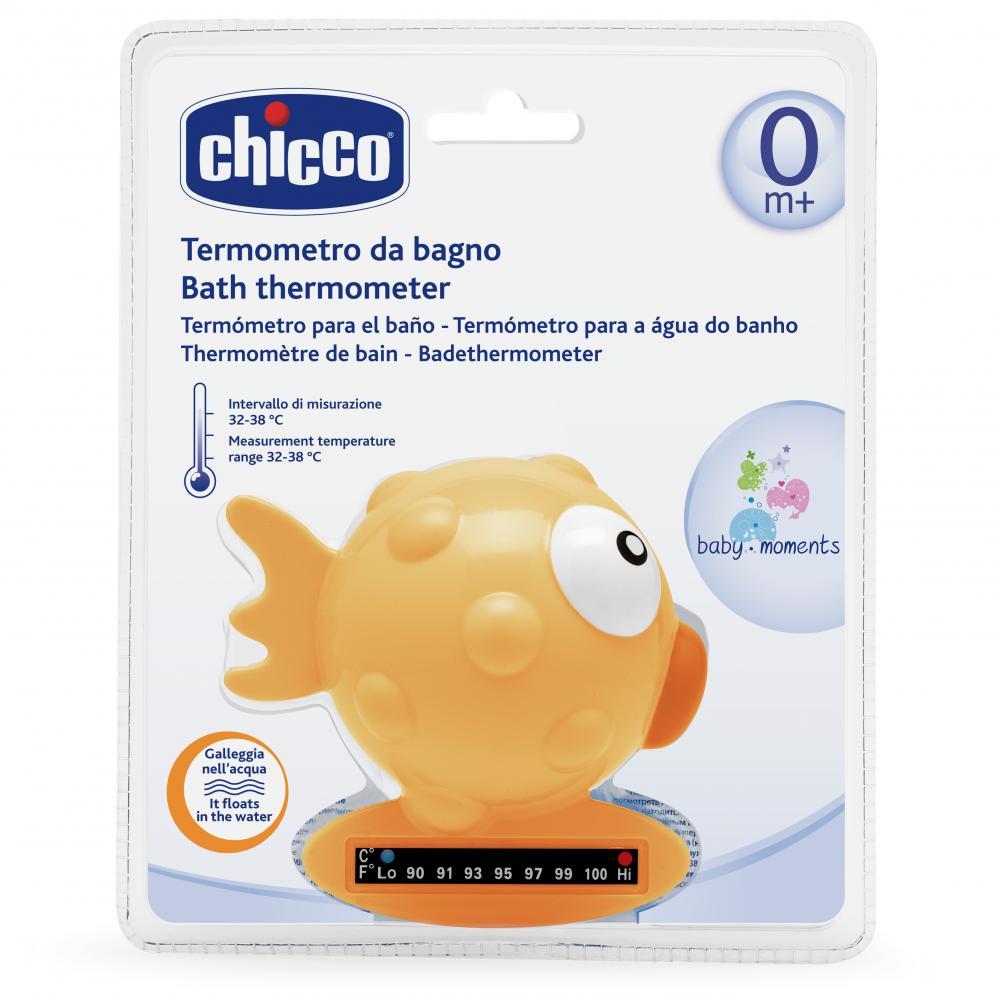 Termometru De Baie Chicco, Forma De Peste, Orange, 0luni+ imagine