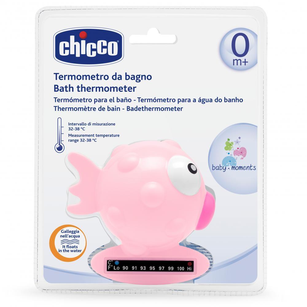 Termometru de baie Chicco, forma de peste, Pink, 0luni+ din categoria Termometre