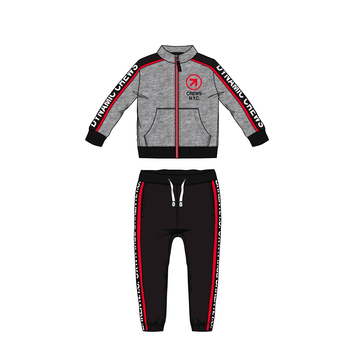 Trening copii Chicco, jacheta si pantalon, gri, 78751