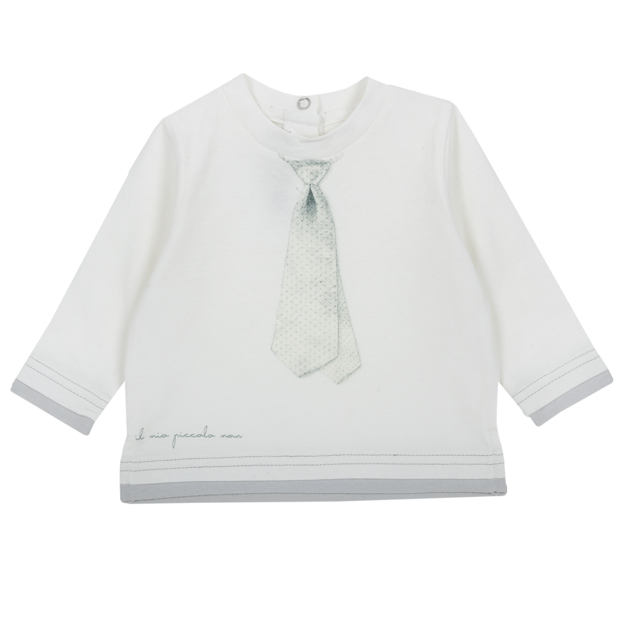 Tricou maneca lunga Chicco fete alb 86