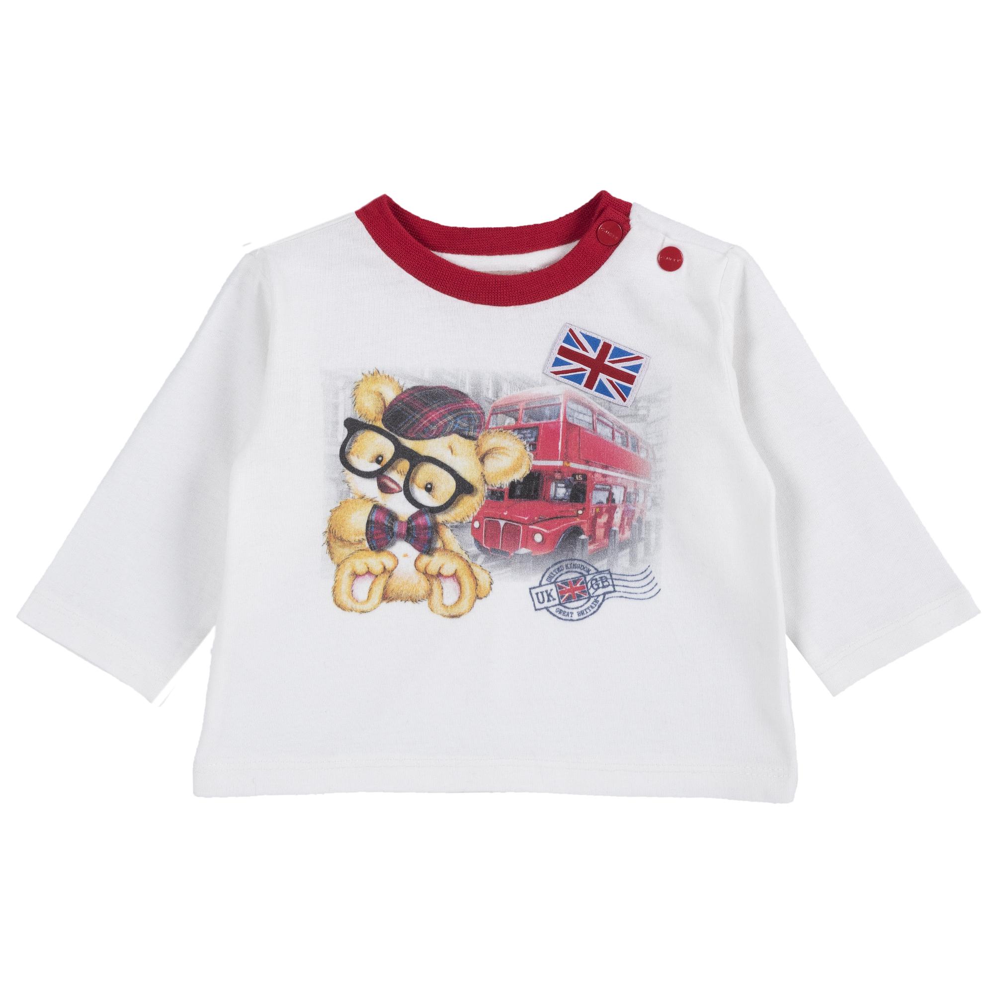 Tricou copii Chicco, alb, 06478