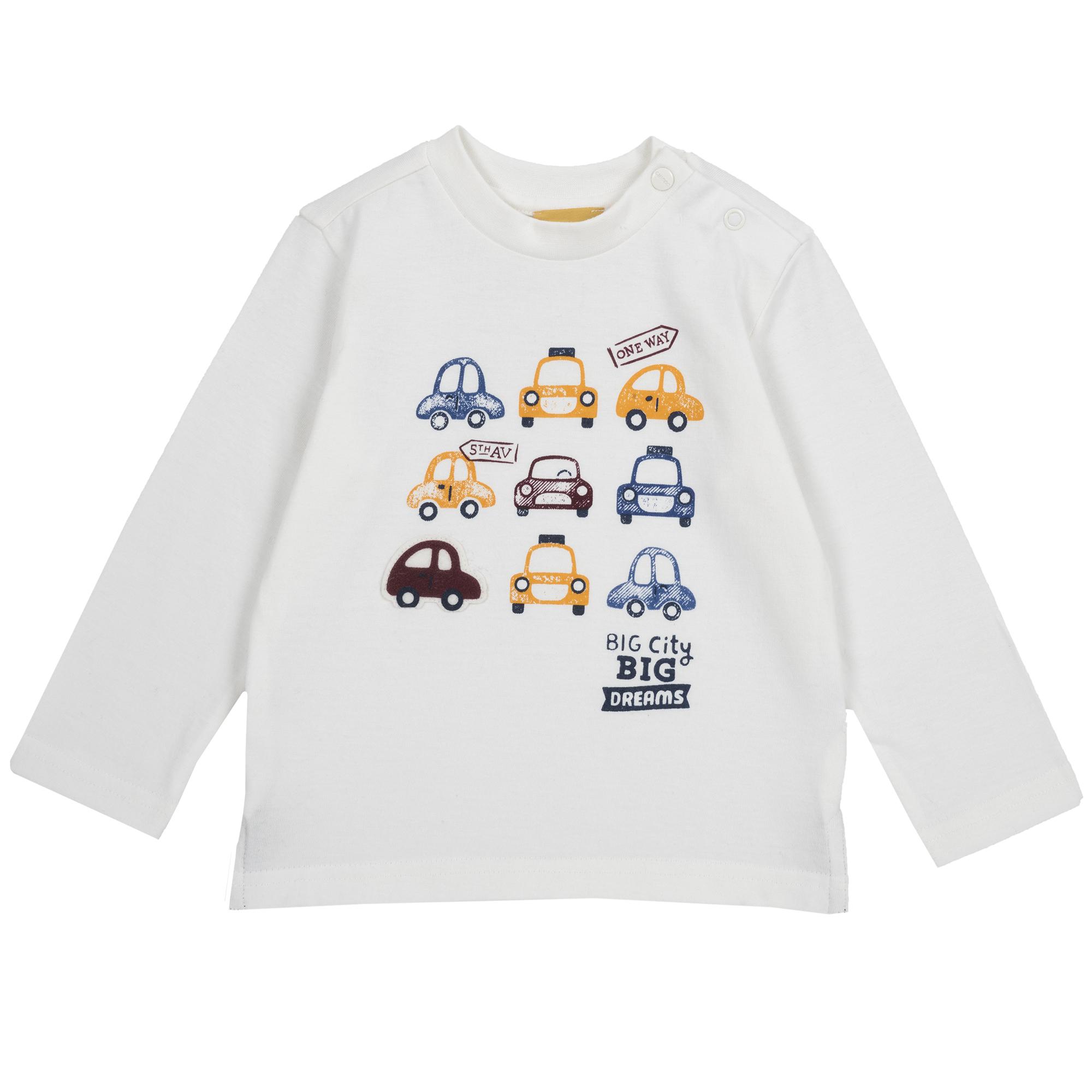 Tricou maneca lunga Chicco, baieti, alb din categoria Tricouri copii