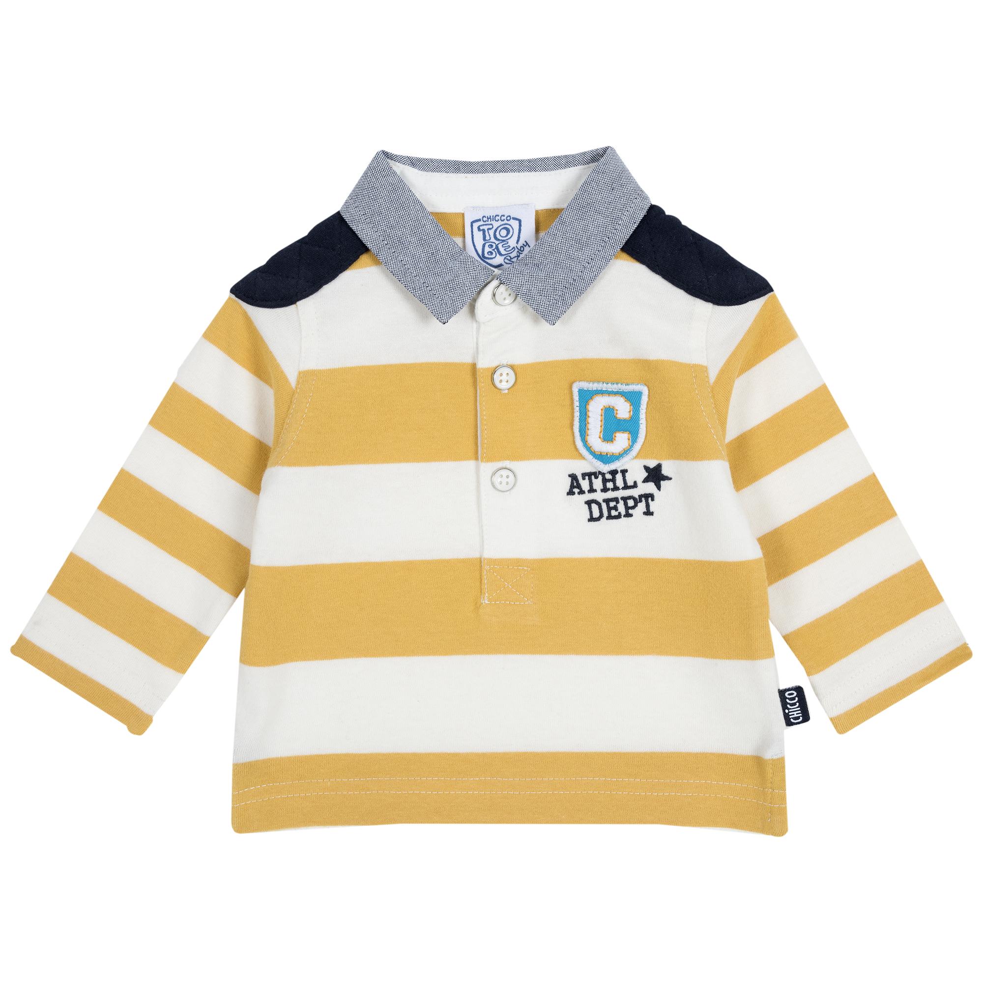 Tricou copii Chicco alb cu galben 92
