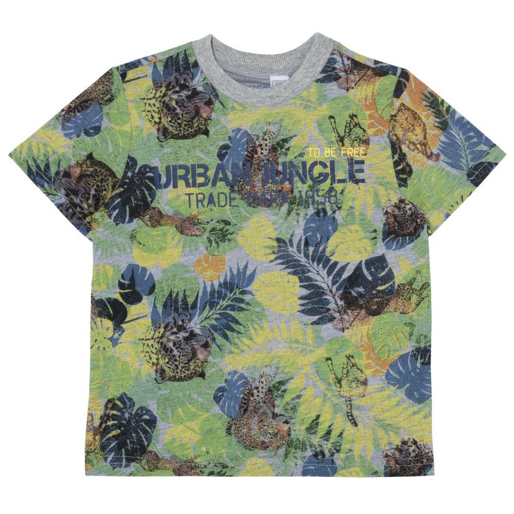 Tricou copii Chicco baieti verde urban jungle 116