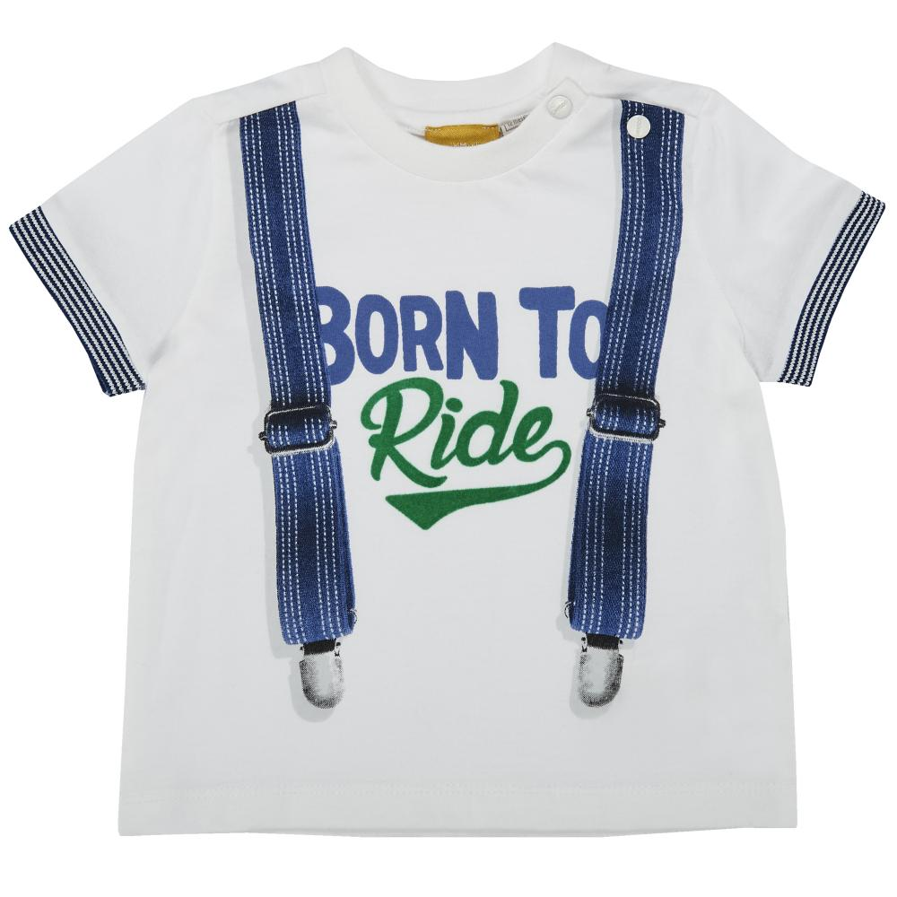 tricou copii chicco, maneca scurta, alb