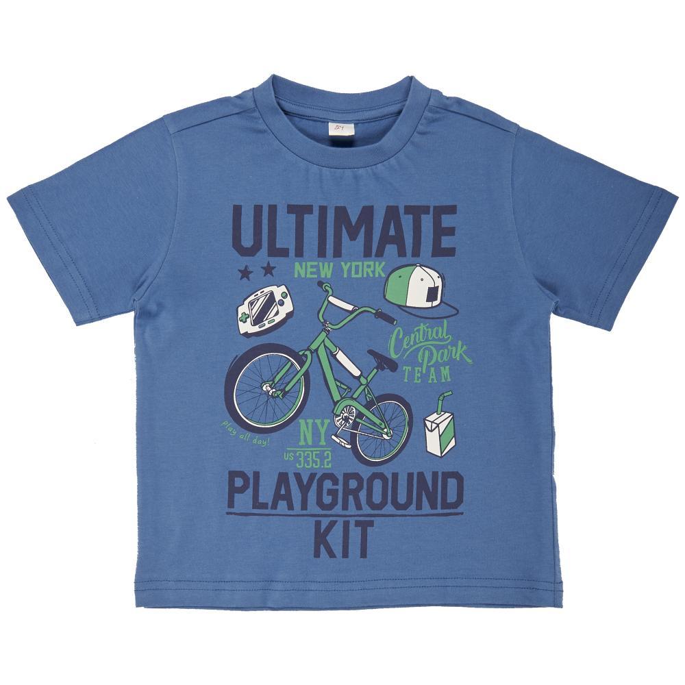 Tricou copii Chicco, maneca scurta, albastru din categoria Tricouri copii