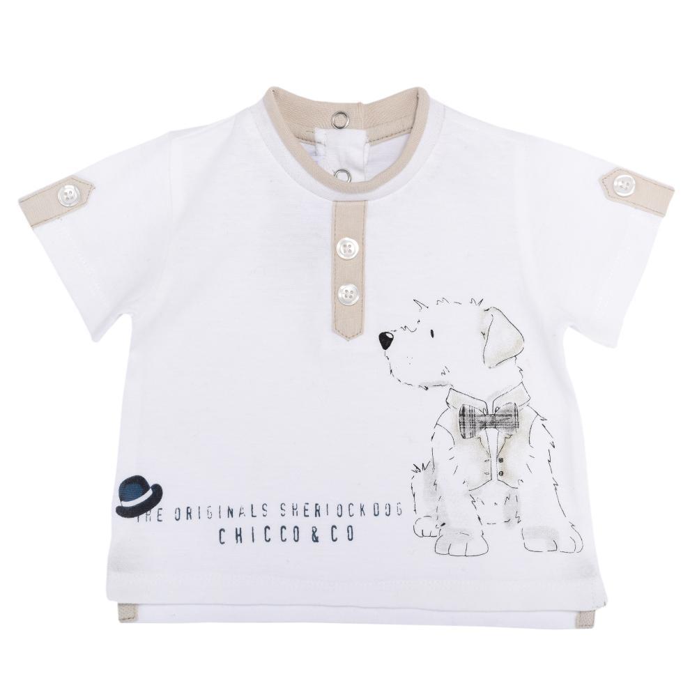 Tricou copii Chicco, maneca scurta, baieti, alb, 61974 din categoria Tricouri copii
