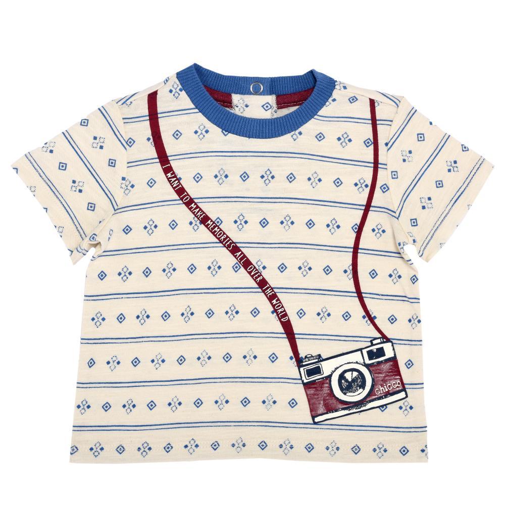 Tricou copii Chicco, maneca scurta, baieti, crem, 61915
